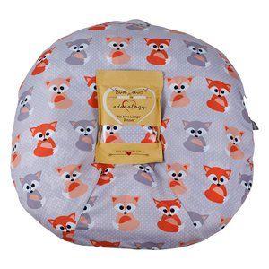 Newborn Lounger Slipcover Baby Gray Foxes Design